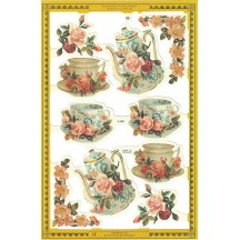 Teacups and Roses Scraps ~ England